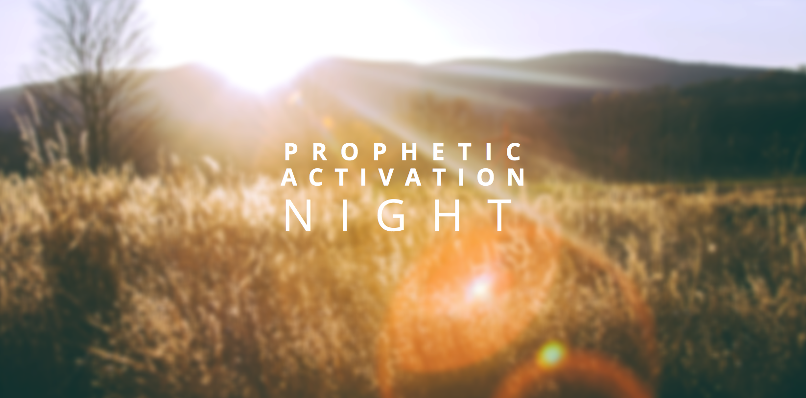 PROPHETIC ACTIVATION NIGHT